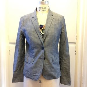 Heathered linen school boy blazer 2